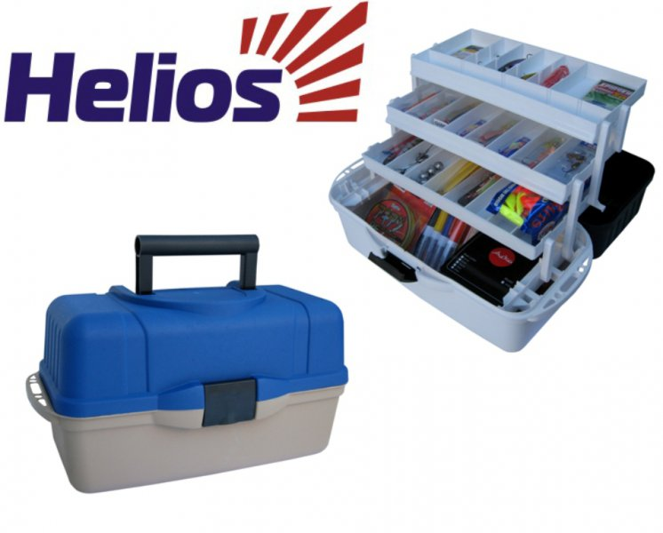 ящик helios рыболова трехполочный синий