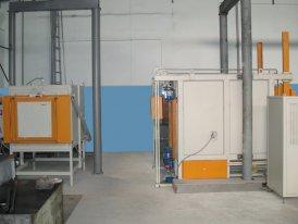 Новое оборудование: Печь для закалки в защитной среде (слева) и Печь с механизированным выкатным подом (справа)